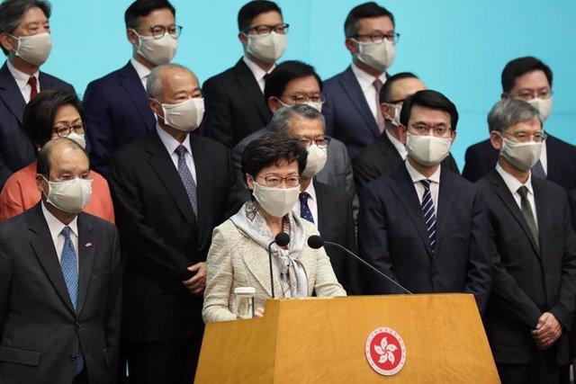 La líder de Hong Kong, Carrie Lam.