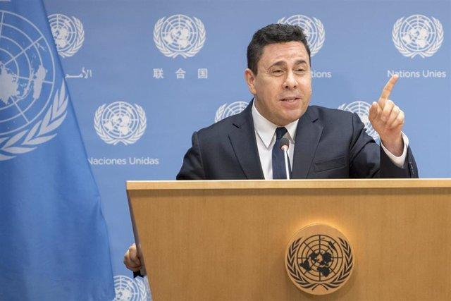 Imagen de Samuel Moncada, embajador de Venezuela ante la ONU.