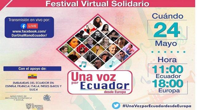 Festival virtual Una voz por Ecuador