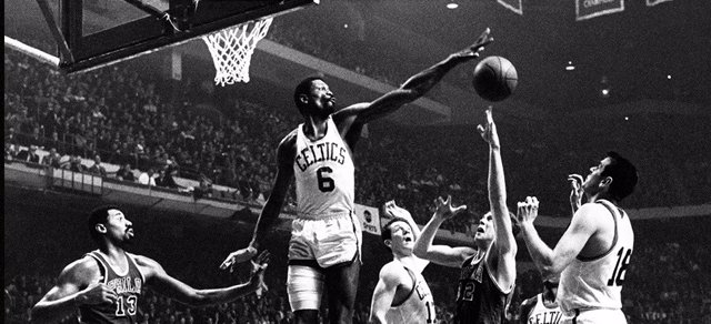 Bill Russell con Boston Celtics