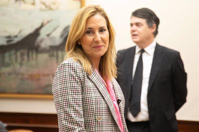 La vicesecretaria de Organización del PP y presidenta del partido en Navarra, Ana Beltrán Villalba. En Madrid (España) a 23 de abril de 2020.