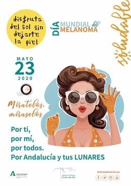 Cartel de la campaña por el Día Mundial del Melanoma.