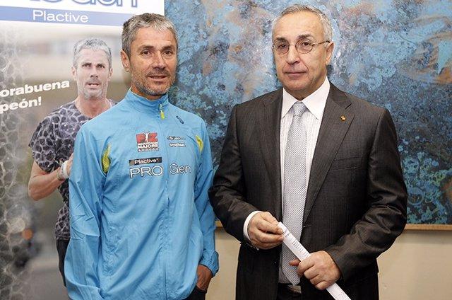 El atleta Martín Fiz y el presidente del COE, Alejandro Blanco