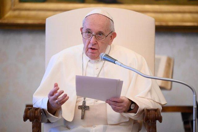 El Papa durante la Audiencia General semanal