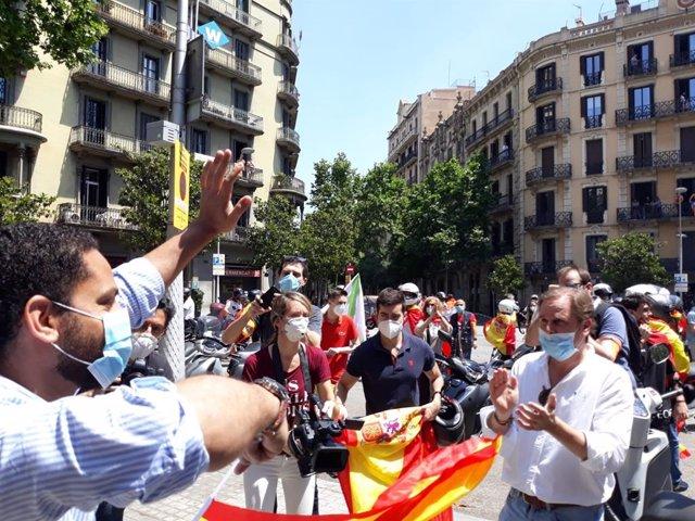 El líder de Vox en Catalunya, Ignacio Garriga, en la manifestación de Barcelona