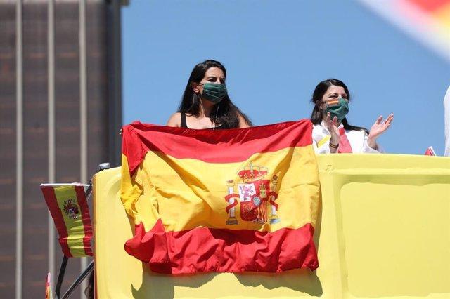 Rocío Monasterio en la manifestación de Madrid convocada por Vox