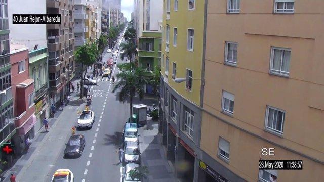 Manifestación de vehículos contra la gestión de Sánchez en Las Palmas de Gran Canaria