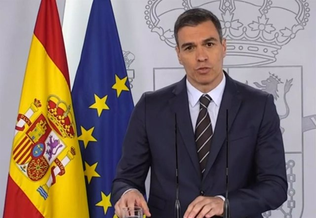 El presidente del Gobierno, Pedro Sánchez, en su comparecencia del sábado 23 de mayo de 2020