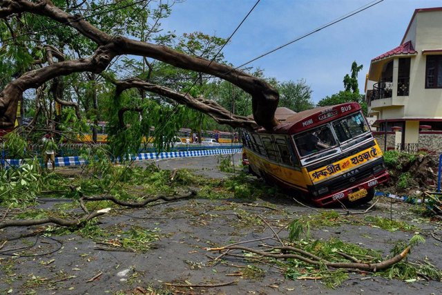 Ciclón Amphan en India