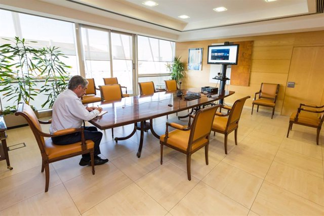 El presidente de Cantabria, Miguel Ángel Revilla, en una reunión telemática del Consejo de Gobierno