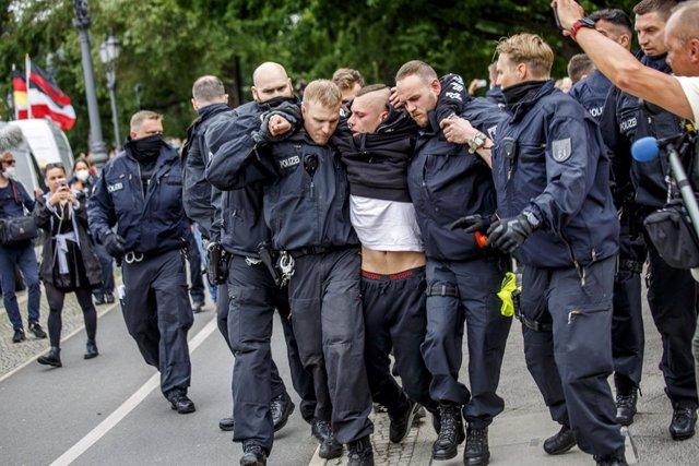 Manifestació d''armilles grogues' a Berlín