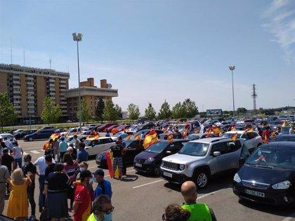 """Vox Huesca celebra la participación en la caravana y dice que """"la gente está muy crispada"""" con la gestión del Gobierno"""
