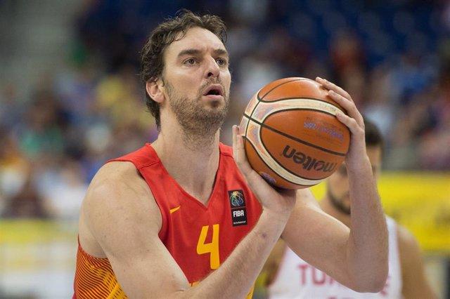 Pau Gasol con la selección española de baloncesto