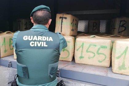La Guardia Civil incauta más de 7.000 kilos de hachís en la provincia de Cádiz durante el estado de alarma