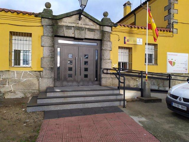Casa cuartel de Ahigal.