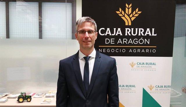 El director de Negocio Agrario de Caja Rural de Aragón, Rubén Artieda.