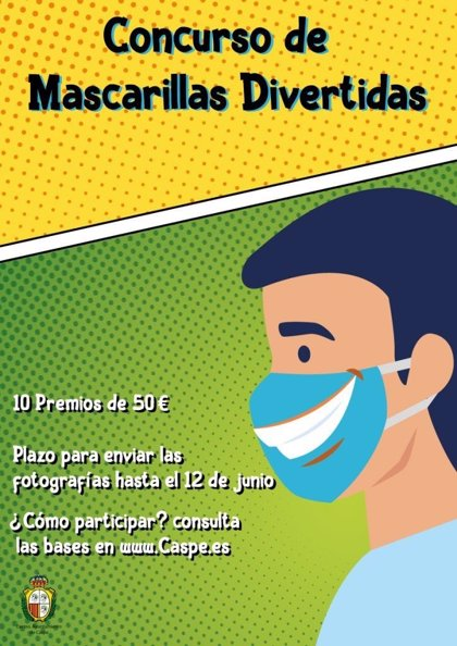 Zaragoza.- El Ayuntamiento de Caspe convoca un concurso de decoración de mascarillas protectoras