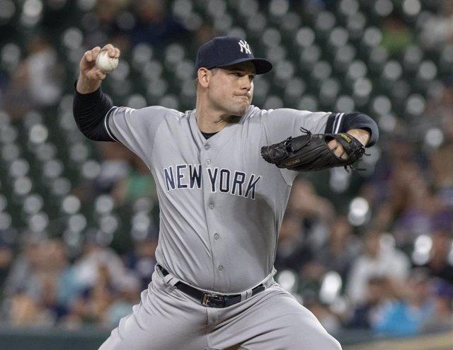 Un jugador del equipo de béisbol New York Yankees