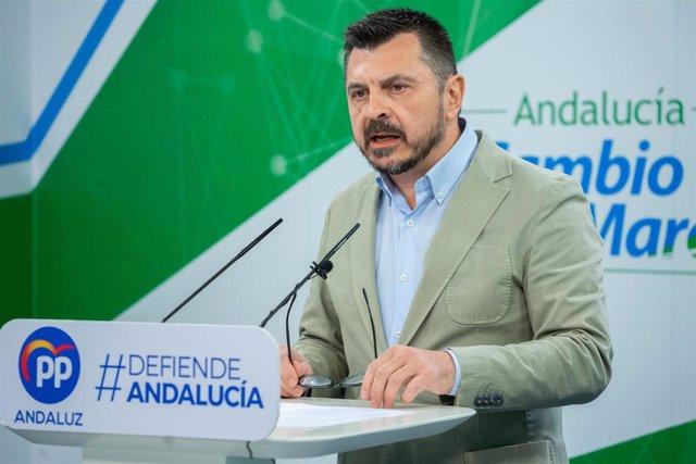 El vicesecretario general del Partido Popular Andaluz, Toni Martín, en una imagen de archivo