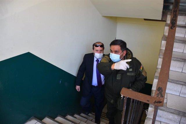 L'exministre de Salut de Bolívia Marcelo Navajas (e) durant la seva detenció.