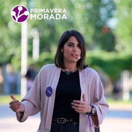 La diputada de Podemos Equo y cabeza de Primavera Morada, Itxaso Cabrera
