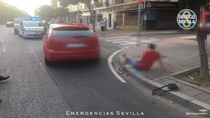 Detenido en Sevilla tras ser atropellado mientras huía después de dar un tirón a mujer