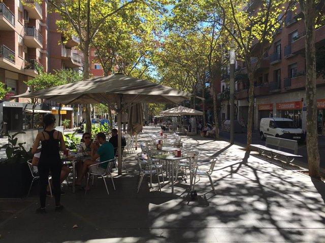 Terrasses de les rambles Fabra i Puig i Onze de Setembre