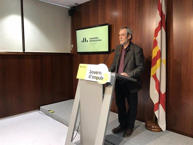 El concejal de ERC Jordi Coronas (archivo)
