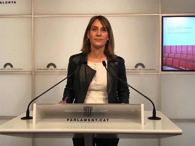 La líder de los comuns en el Parlament, Jéssica Albiach, en una imagen de archivo.
