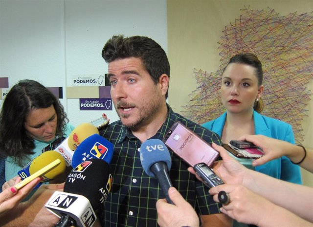 Nacho Escartín y Maru Díaz, de Podemos Aragón