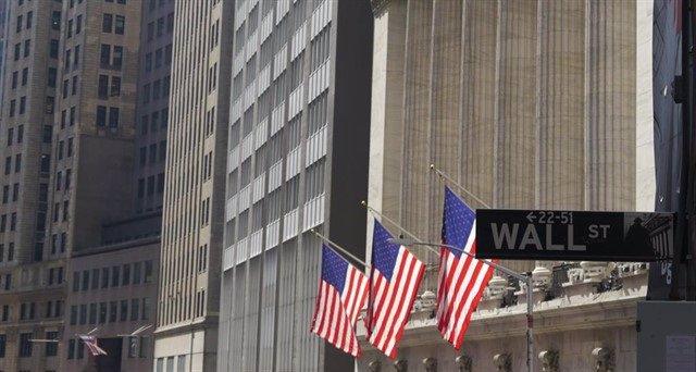 Fachada de la Bolsa de Nueva York en Wall Street