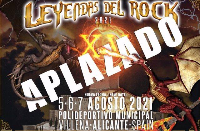 Leyendas del Rock, aplazado a 2021