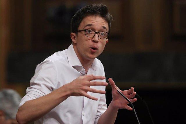 El líder de Més País, Iñigo Errejón, al Congrés dels Diputats, Madris (Espanya), 20 de maig del 2020.