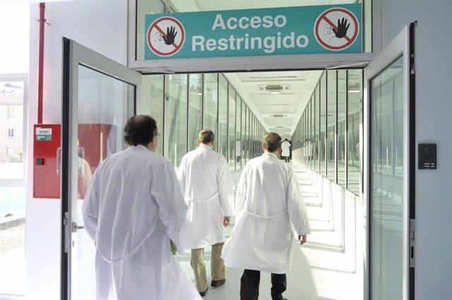 Personal del Hospital Miguel Servet de Zaragoza.
