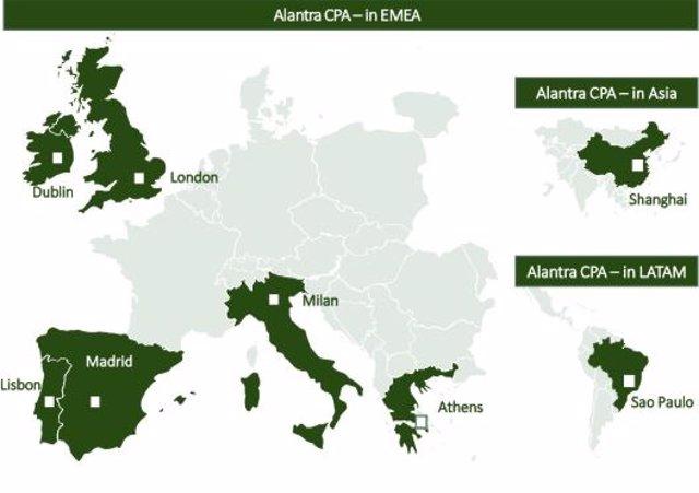 Países donde Alantra ofrece asesoramiento para la venta de activos tóxicos