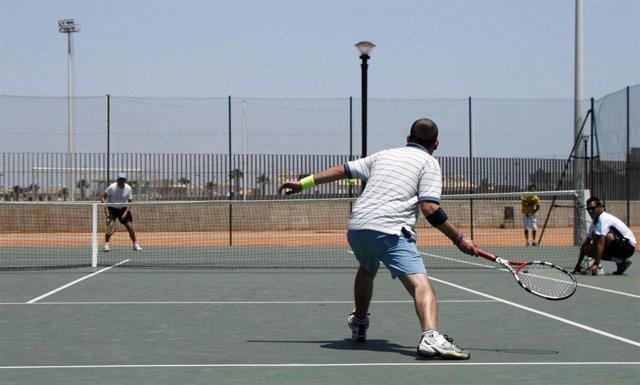 Imagen de un torneo de tenis en Cartaya.