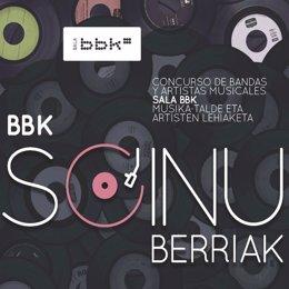 Cartel del concurso BBK Soinu Berriak