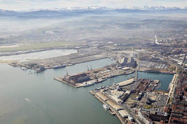Puerto de Santander. Vista aérea