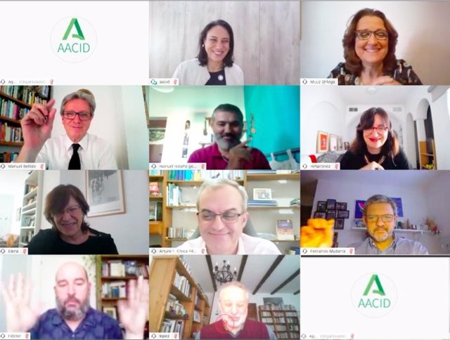 Imagen de archivo de un seminario web celebrado por la Agencia Andaluza de Cooperación Internacional al Desarrollo.