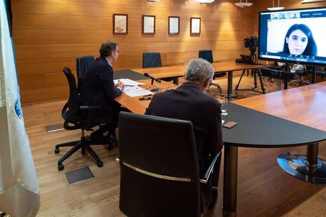 Feijóo y Conde participan en un webinario sobre digitalización de pymes y comercio online