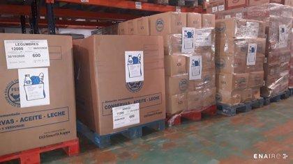 Los empleados de Enaire lanzan una campaña solidaria y consiguen más de 1.000 bolsas de alimentos