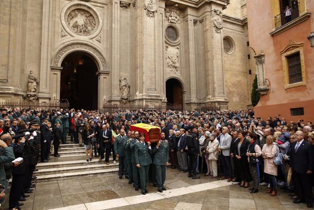 En Granada, misa funeral por el guardia civil fallecido tras ser disparado en Huétor Vega en acto de servicio