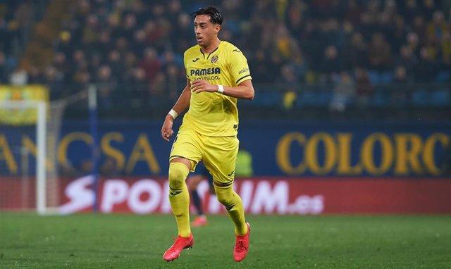 Ramiro Funes Mori jugando con el Villarreal
