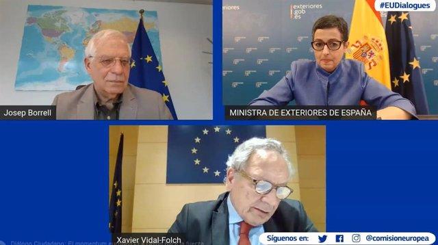 Josep Borrell y Arancha González Laya
