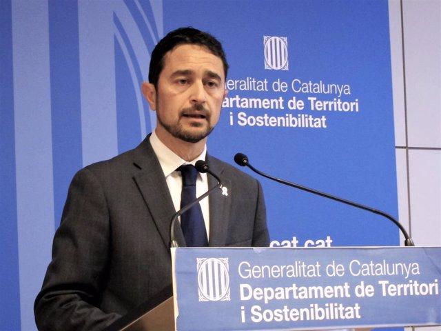 El conseller de Territori i Sostenibilitat de la Generalitat, Damià Calvet