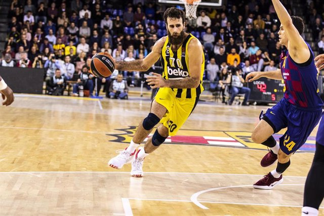 Luigi Datome, #70 player for Fenerbahce Beko from Italy, during the EuroLeague Basketball match between  FC Barcelona  and Fenerbahce Beko Istanbul on November 20, 2019 at Palau Blaugrana, in Barcelona, Spain.