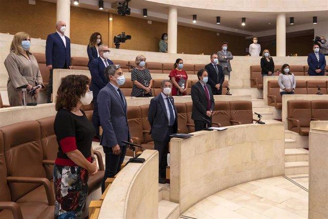 Minuto de silencio en el primer pleno tras la suspensión de sesiones por el estado de alarma