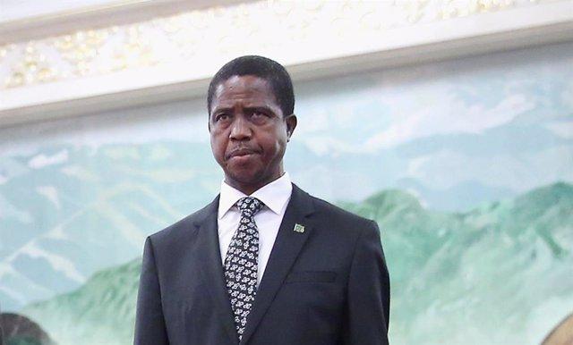 El presidente de Zambia, Edgar Chagwa Lungu