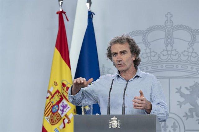 El director del Centro de Coordinación de Alertas y Emergencias Sanitarias, Fernando Simón, comparece en rueda de prensa En Madrid, (España), a 22 de mayo de 2020.