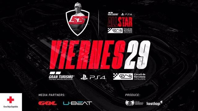 Carlos Sainz lidera la próxima competición virtual en el Circuit de Barcelona-Catalunya